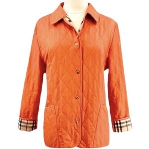 Burberry London Constance Orange Quilted Jacket M